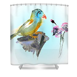 Would You Care To Dance With Me Shower Curtain by Miki De Goodaboom