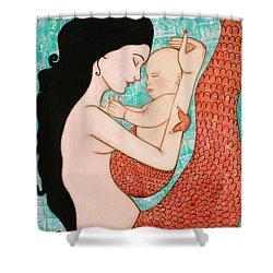 Wrapped In Love Shower Curtain by Natalie Briney
