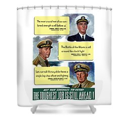 Ww2 Us Navy Admirals Shower Curtain by War Is Hell Store