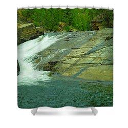 Yak Falls   Shower Curtain by Jeff Swan
