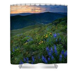 Yakima River Canyon Sunset Shower Curtain by Mike  Dawson