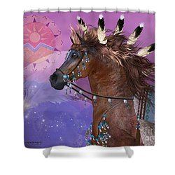 Year Of The Eagle Horse Shower Curtain by Corey Ford