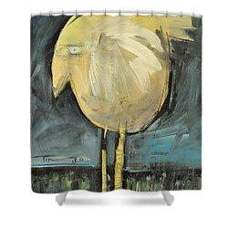 Yellow Bird In Field Shower Curtain by Tim Nyberg