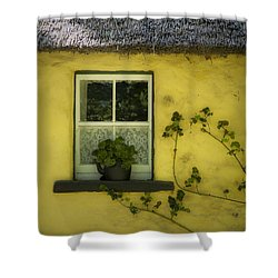 Yellow House County Clare Ireland Shower Curtain by Teresa Mucha