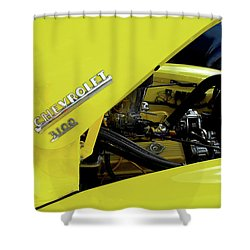 Yellow Truck Shower Curtain by Kristie  Bonnewell