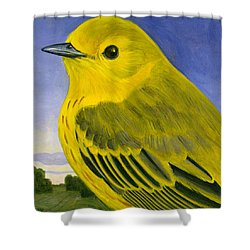 Yellow Warbler Shower Curtain by Francois Girard