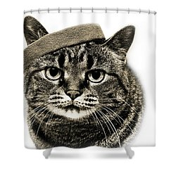 Yes I Am Wearing A Headband Shower Curtain by Andee Design
