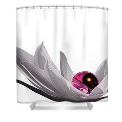 Yin Yang Shower Curtain by Jacky Gerritsen