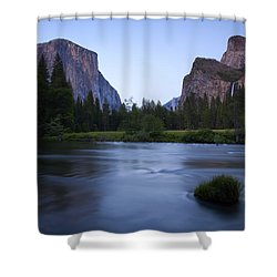 Yosemite Twilight Shower Curtain by Mike  Dawson