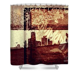 You Held My Hand Softly Through The Humid Summer Streets Shower Curtain by Dana DiPasquale