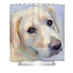 Young Man Shower Curtain by Kimberly Santini