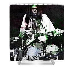 Young Neil Shower Curtain by John Malone