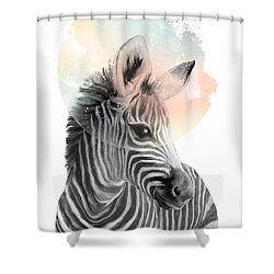 Zebra // Dreaming Shower Curtain by Amy Hamilton