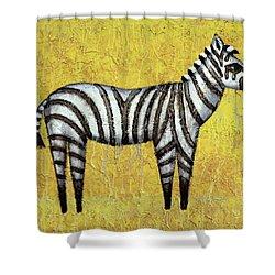 Zebra Shower Curtain by Kelly Jade King