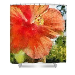 Zoo Flower Shower Curtain by Jeff Kolker