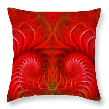 Abstract Background  Throw Pillow by Odon Czintos