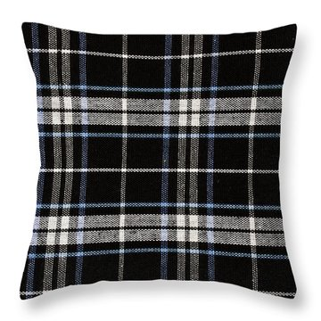 Checkered Fabric Pattern  Throw Pillow by IB Photo