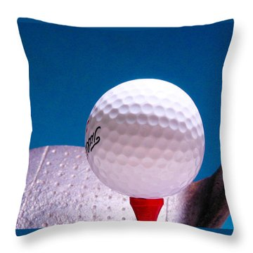 Golf Throw Pillow by David and Carol Kelly