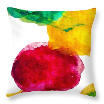 Interactions 1 Throw Pillow by Amy Vangsgard