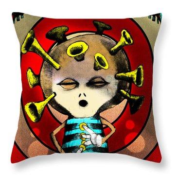 Jazzplayer Throw Pillow by Johan Lilja