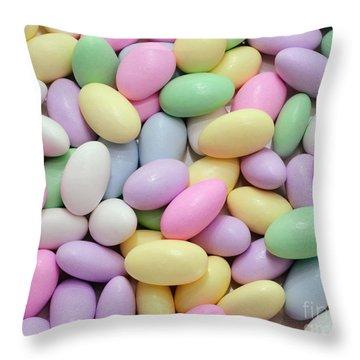 Jordan Almonds - Weddings - Candy Shop Throw Pillow by Andee Design