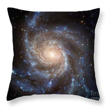 Messier 101 Throw Pillow by Barbara McMahon