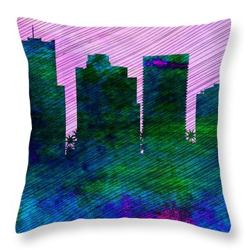 Phoenix City Skyline Throw Pillow by Naxart Studio
