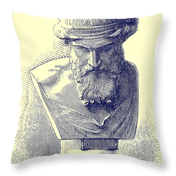 Plato Throw Pillow by Chapuis