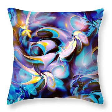 Pleasant Shapes Throw Pillow by Anastasiya Malakhova