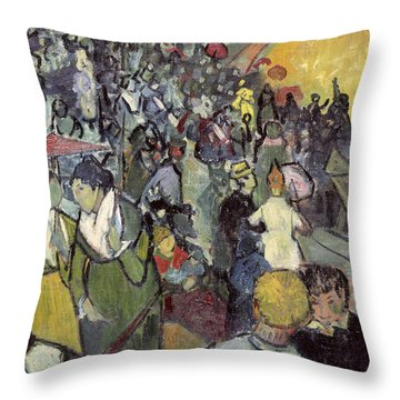 The Arena At Arles Throw Pillow by Vincent van Gogh