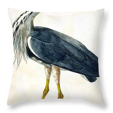 The Heron  Throw Pillow by Peter Paillou