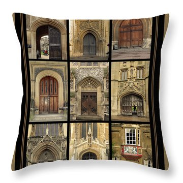 Uk Doors Throw Pillow by Christo Christov