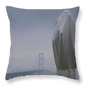 Veil Monument Throw Pillow by Randy Pollard