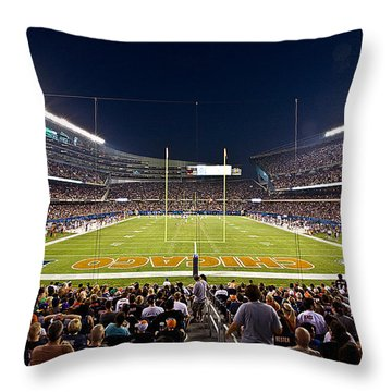0588 Soldier Field Chicago Throw Pillow by Steve Sturgill