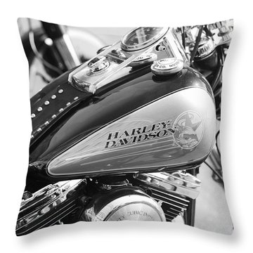 110th Anniversary Harley Davidson Throw Pillow by Stefano Senise