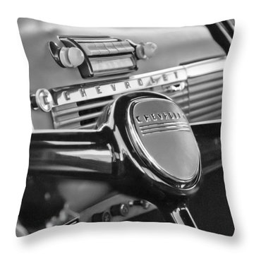 1950 Chevrolet 3100 Pickup Truck Steering Wheel Throw Pillow by Jill Reger