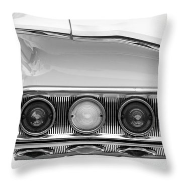 1960 Chevrolet Impala Tail Lights Throw Pillow by Jill Reger