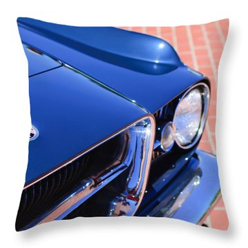 1962 Ghia L6.4 Coupe Grille Emblem Throw Pillow by Jill Reger