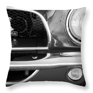 1968 Ford Mustang Fastback 427 Ci Cobra Grille Emblem Throw Pillow by Jill Reger