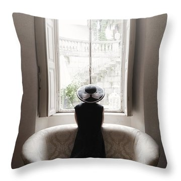 40s Lady Throw Pillow by Joana Kruse