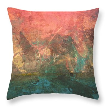 Abstract Print 2 Throw Pillow by Filippo B