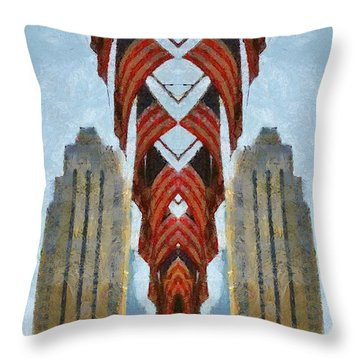 American Architecture Throw Pillow by Dan Sproul