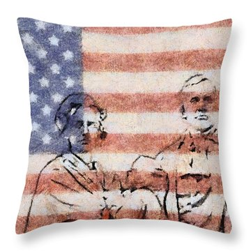 American Patriots Throw Pillow by Dan Sproul