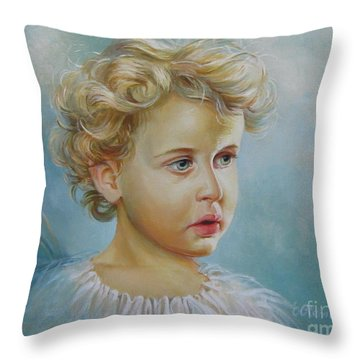 Angel Throw Pillow by Elena Oleniuc