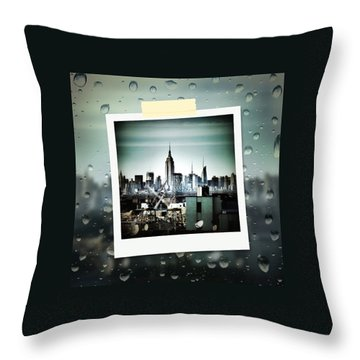 April In Nyc Throw Pillow by Natasha Marco