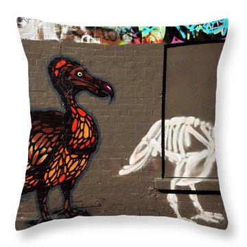 Artistic Graffiti On The U2 Wall Throw Pillow by Panoramic Images