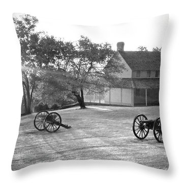 Battle Grounds Throw Pillow by David Troxel