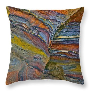 Belly Eyes Rock In Petra-jordan Throw Pillow by Ruth Hager