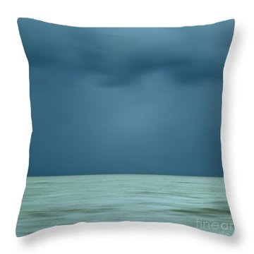 Blue Sea Throw Pillow by Bernard Jaubert