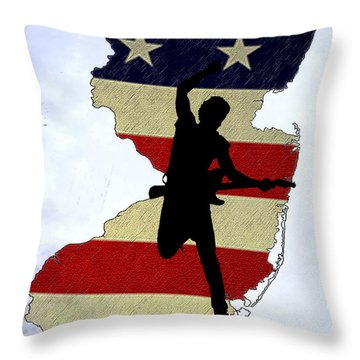 Born In New Jersey Throw Pillow by Bill Cannon